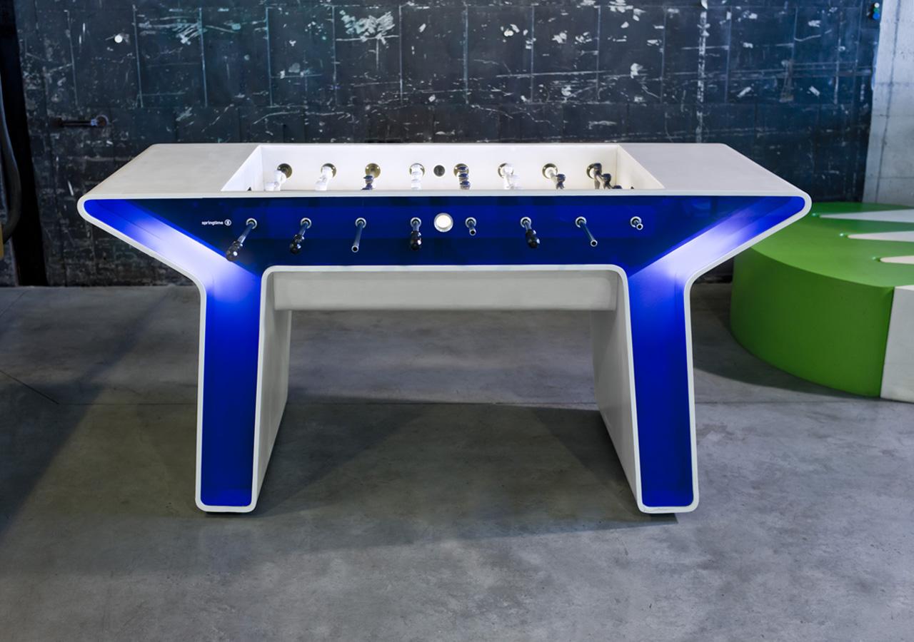 Halftime foosball table