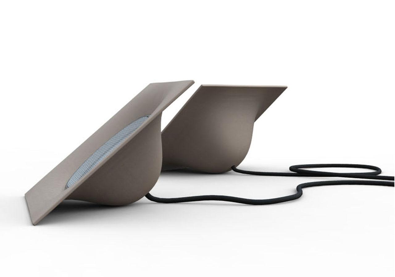 Designcollectie voor natuurlijke composieten - speakers