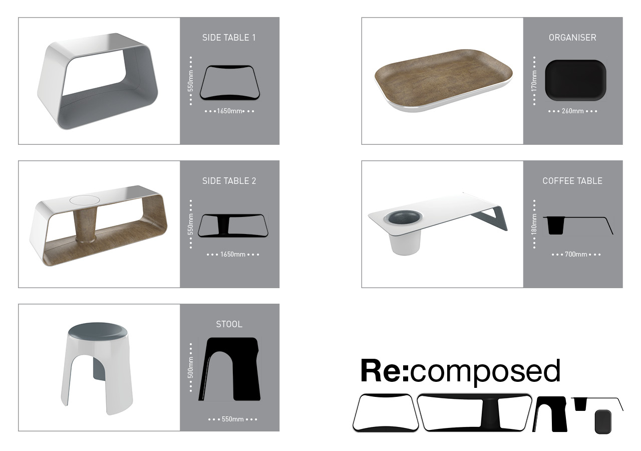 Re:composed interior products