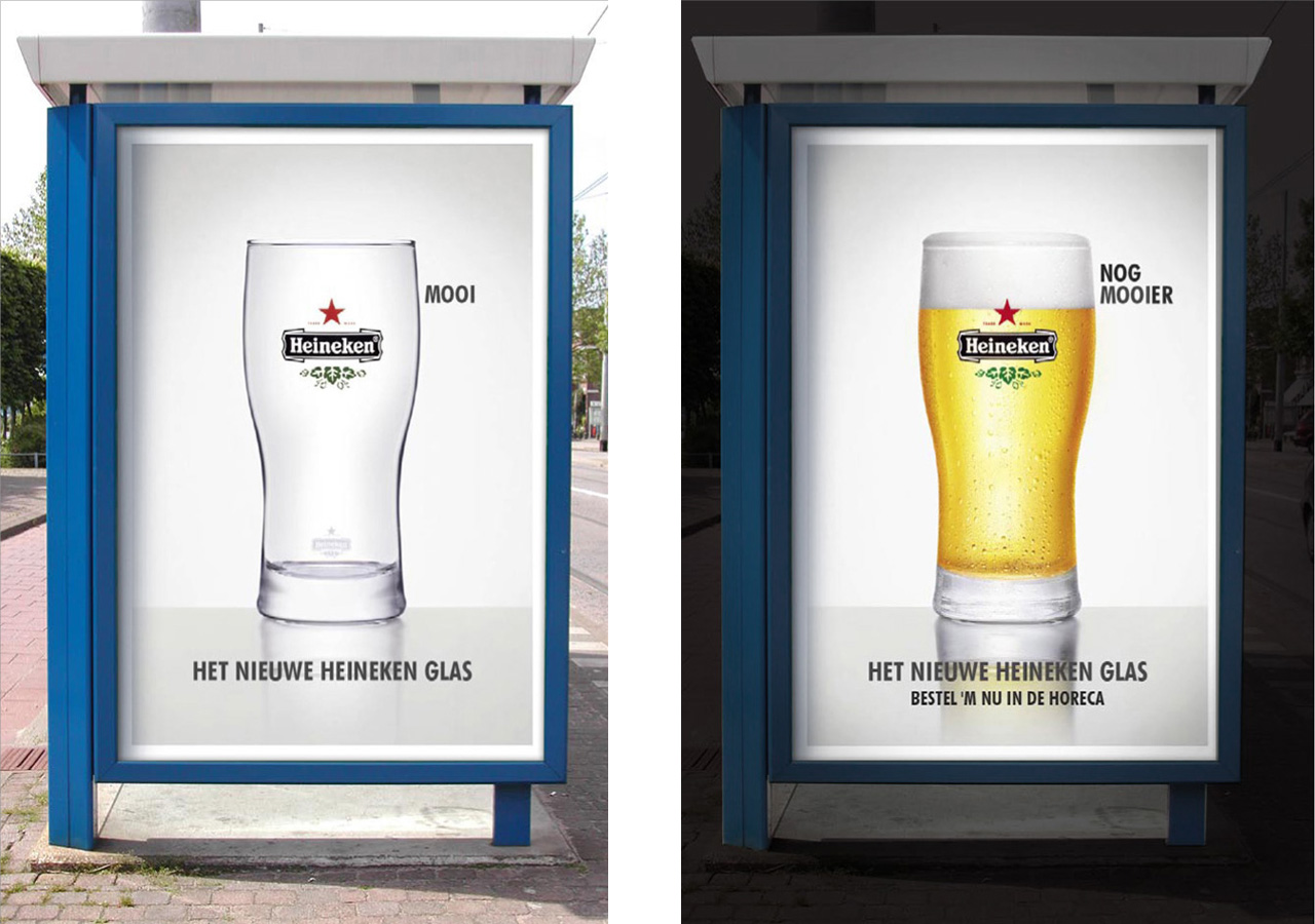 Heineken International glass design collection - advertising