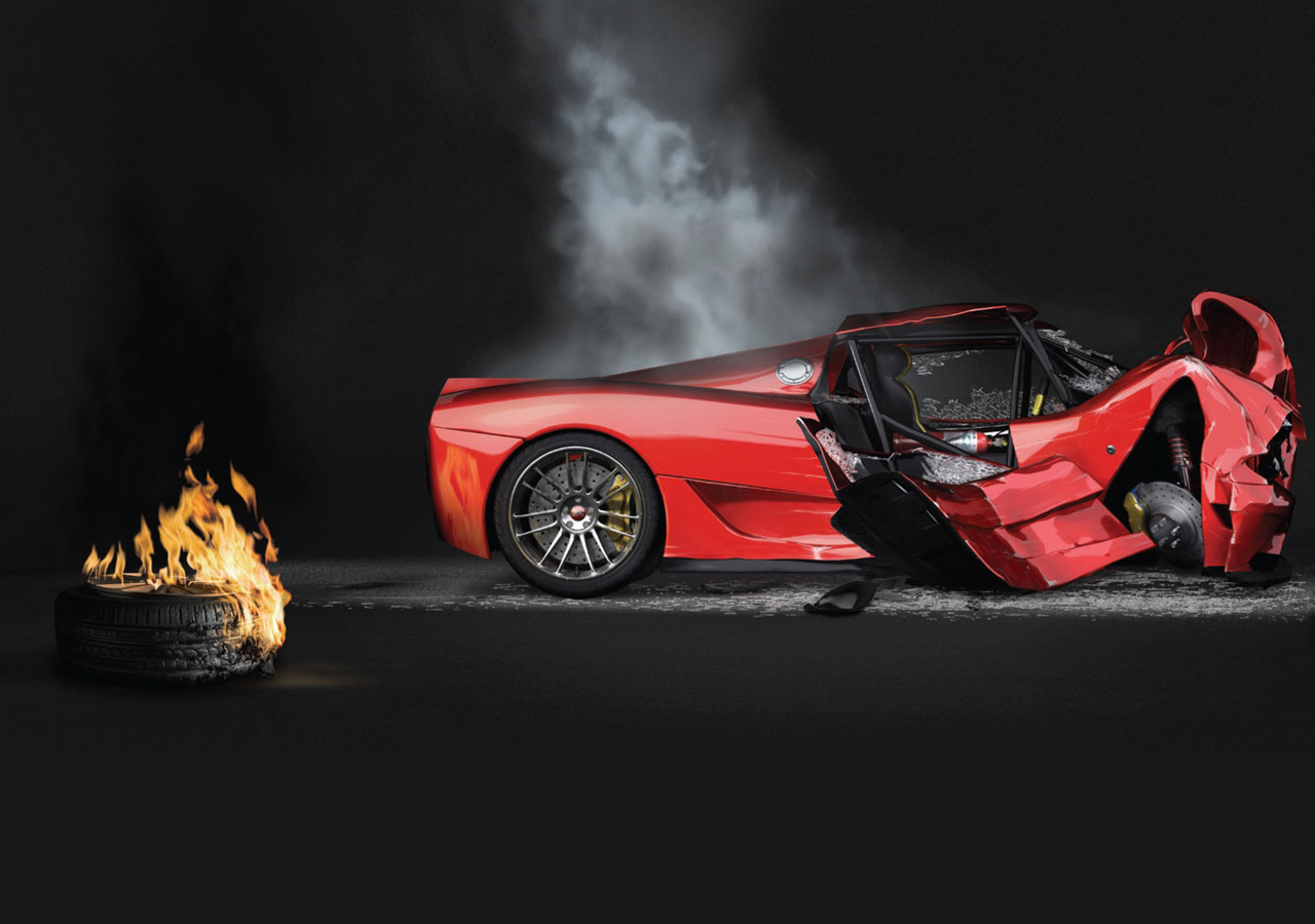 EA Burnout 5 campaign visuals