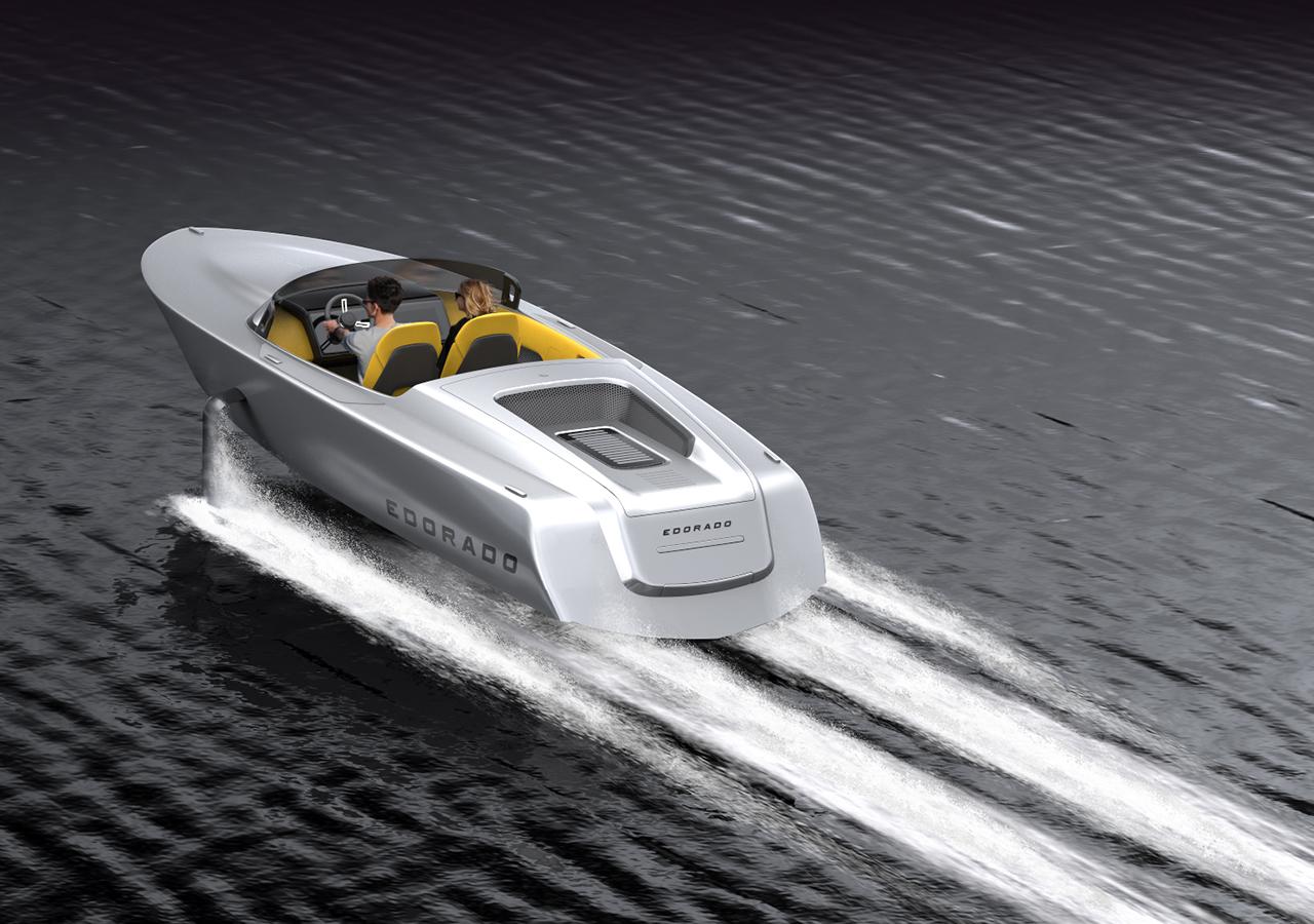 Edorado 7S elektrische speedboat - draagvleugel