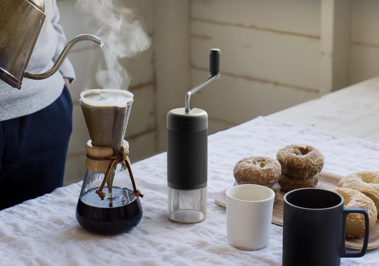 human-powered coffee grinder